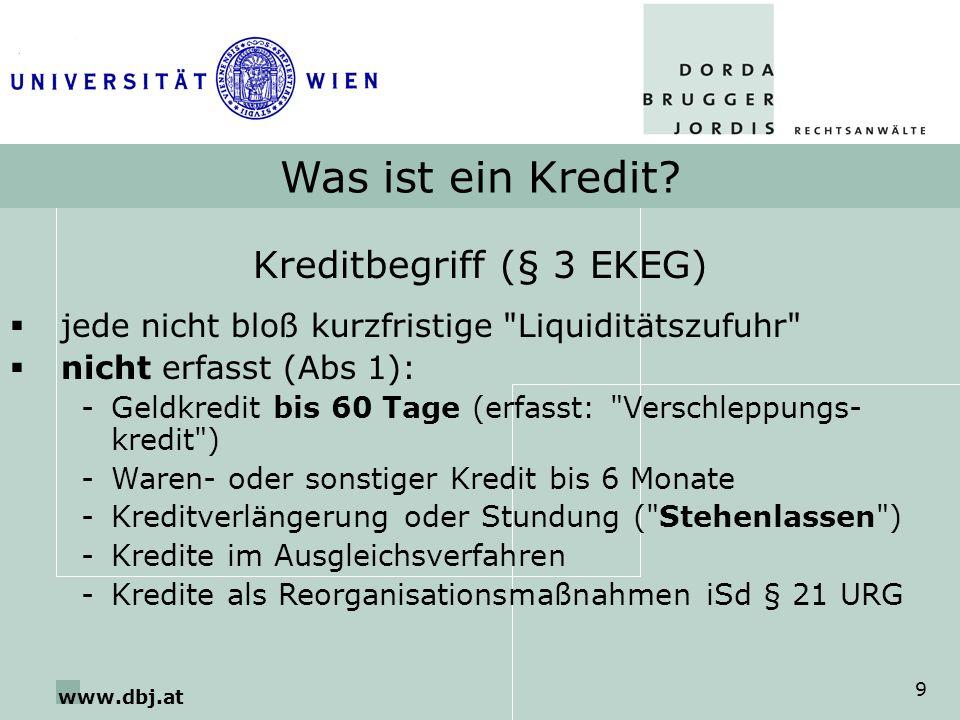 Kreditbegriff (§ 3 EKEG)