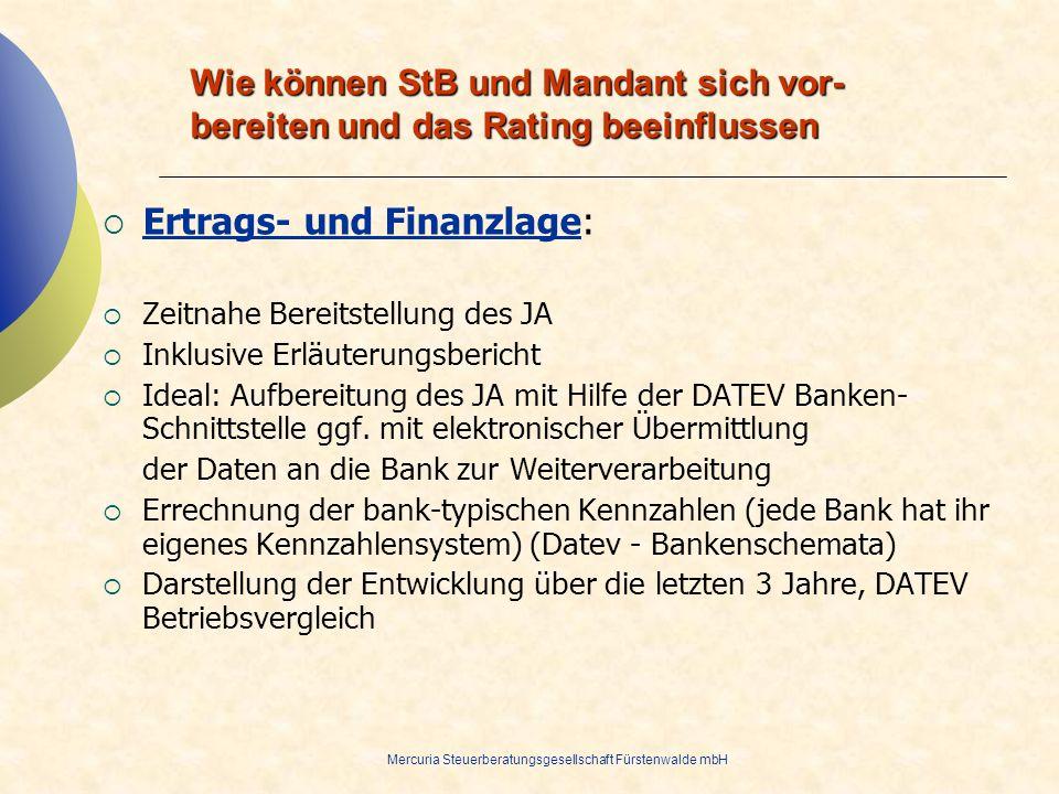 Ertrags- und Finanzlage: