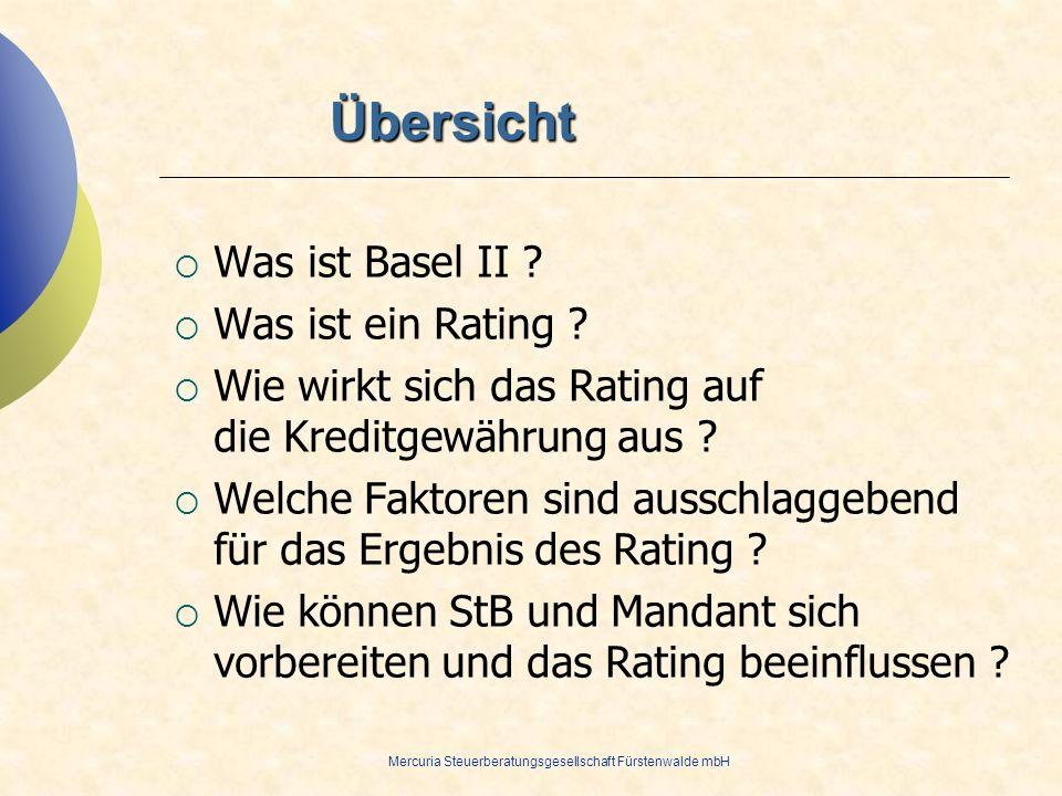 Übersicht Was ist Basel II Was ist ein Rating
