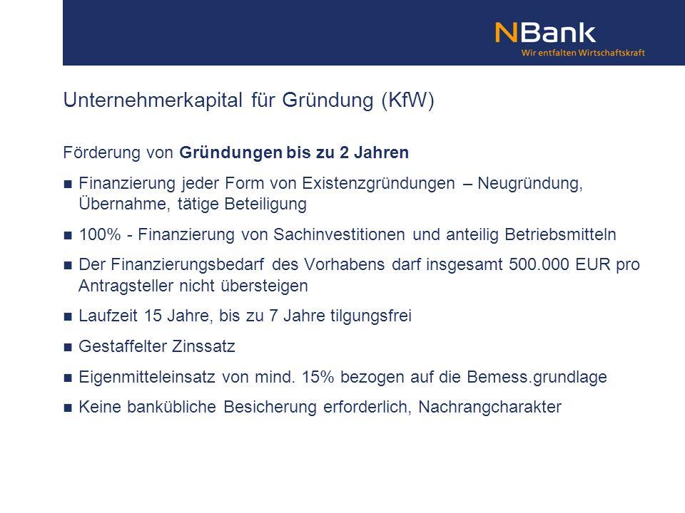 Unternehmerkapital für Gründung (KfW)