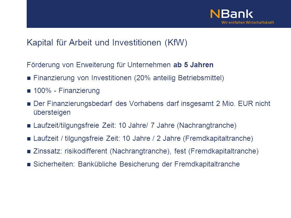 Kapital für Arbeit und Investitionen (KfW)