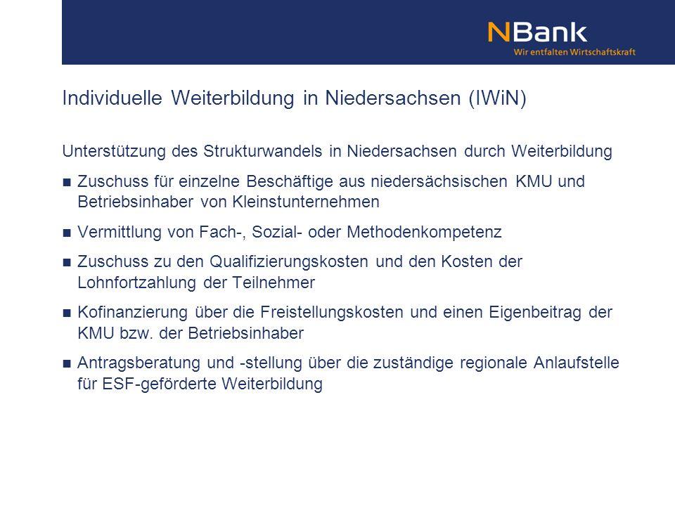 Individuelle Weiterbildung in Niedersachsen (IWiN)