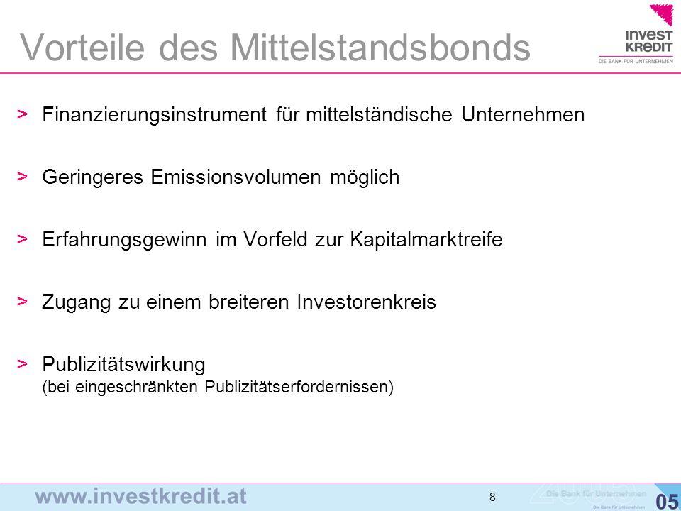Vorteile des Mittelstandsbonds