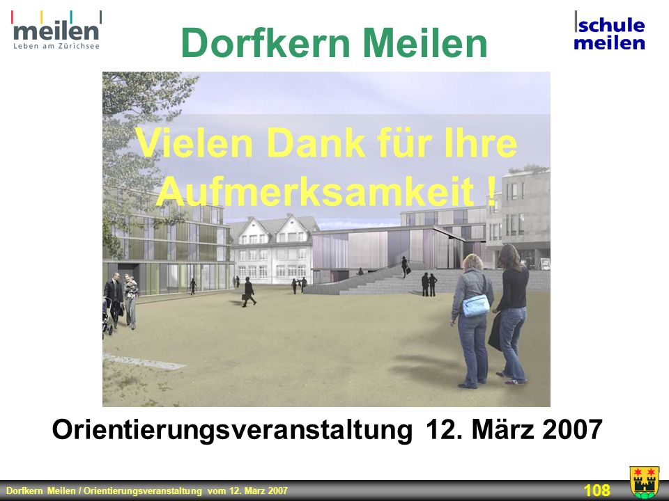 Orientierungsveranstaltung 12. März 2007