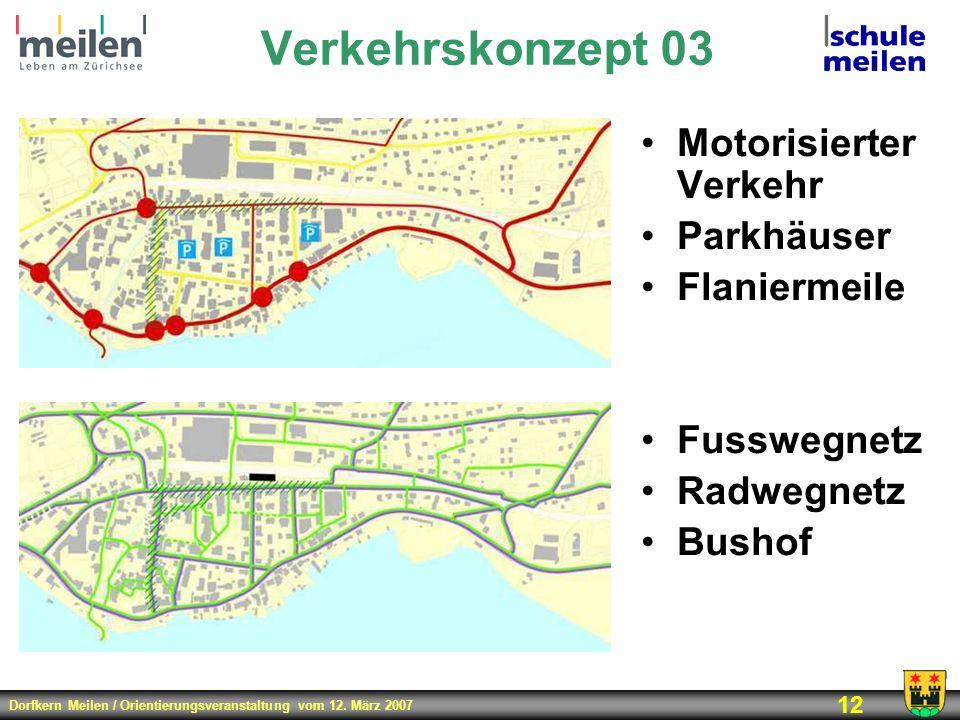 Verkehrskonzept 03 Motorisierter Verkehr Parkhäuser Flaniermeile
