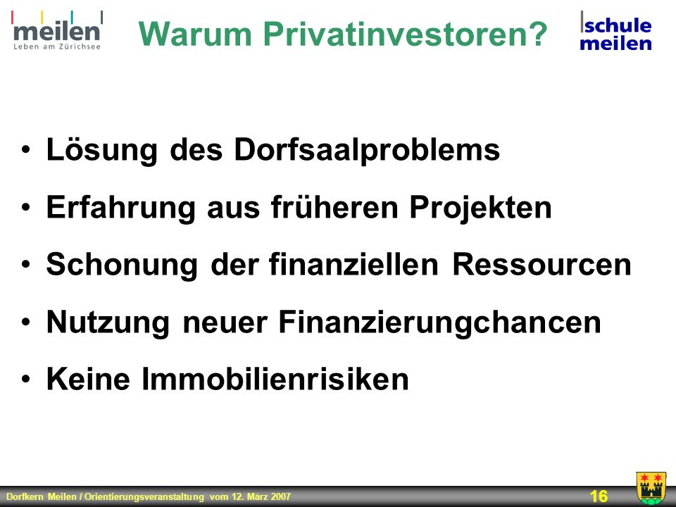 Warum Privatinvestoren