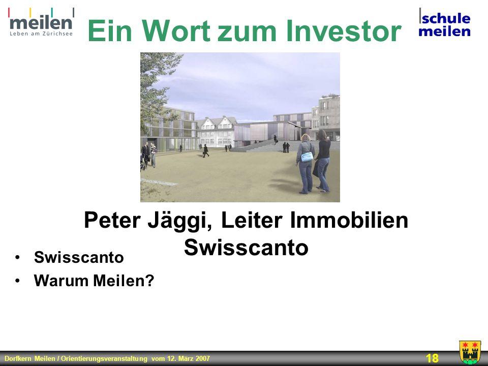 Peter Jäggi, Leiter Immobilien Swisscanto