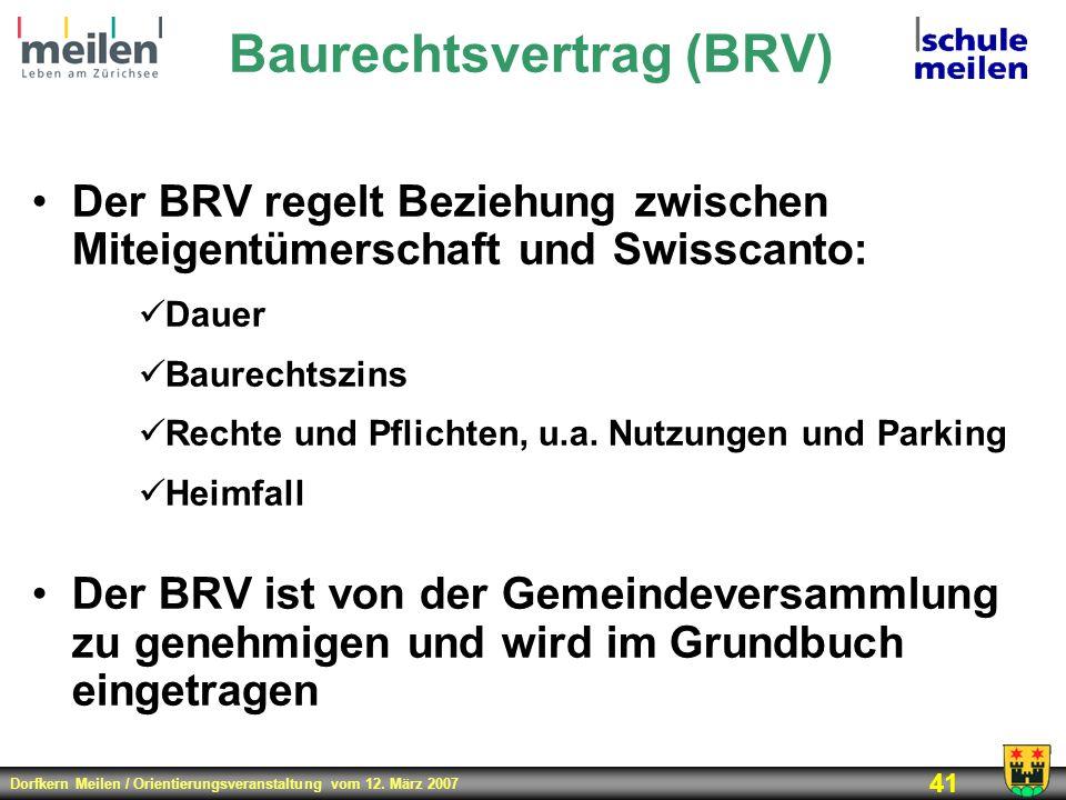 Baurechtsvertrag (BRV)