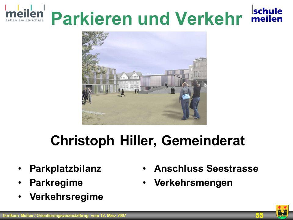 Christoph Hiller, Gemeinderat