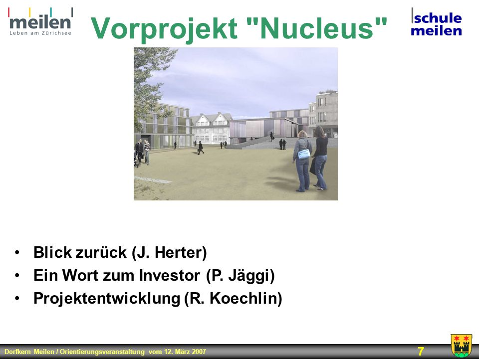Vorprojekt Nucleus Blick zurück (J. Herter)