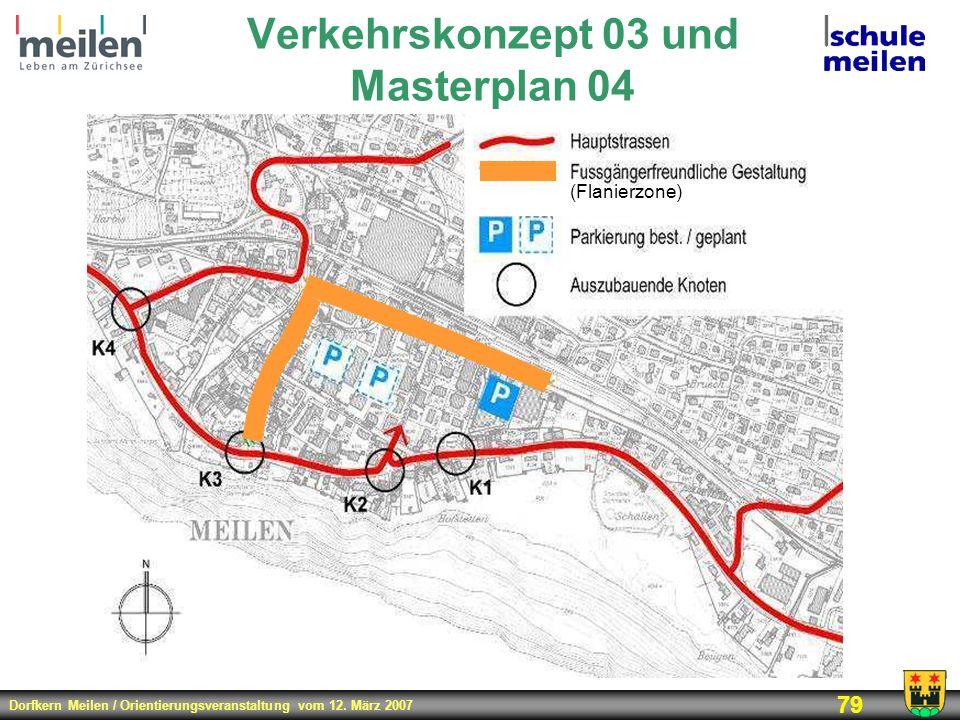 Verkehrskonzept 03 und Masterplan 04