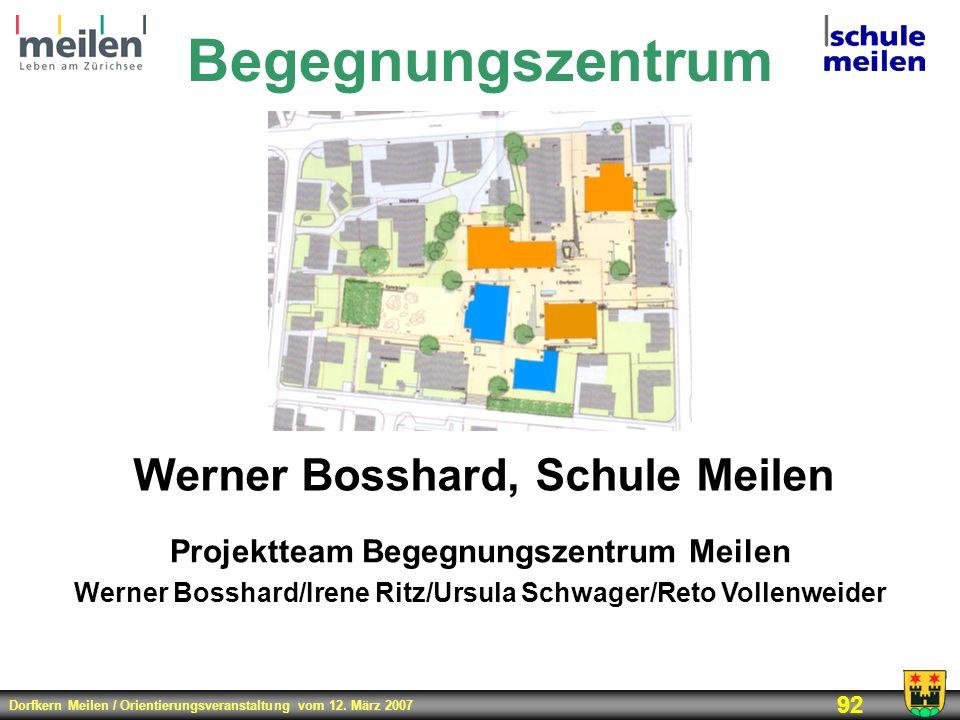 Begegnungszentrum Werner Bosshard, Schule Meilen