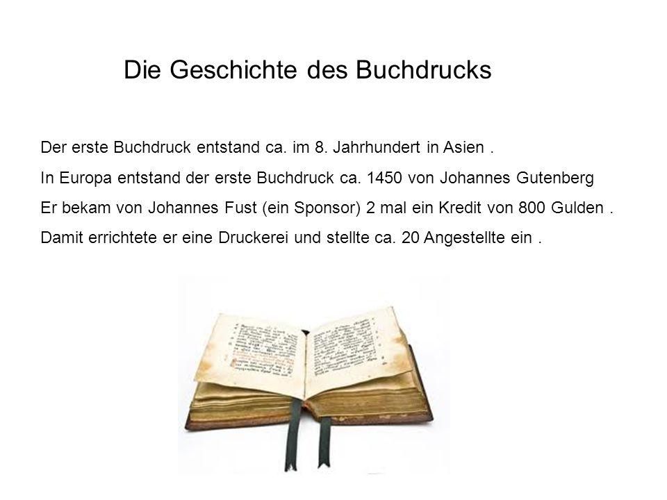Die Geschichte des Buchdrucks