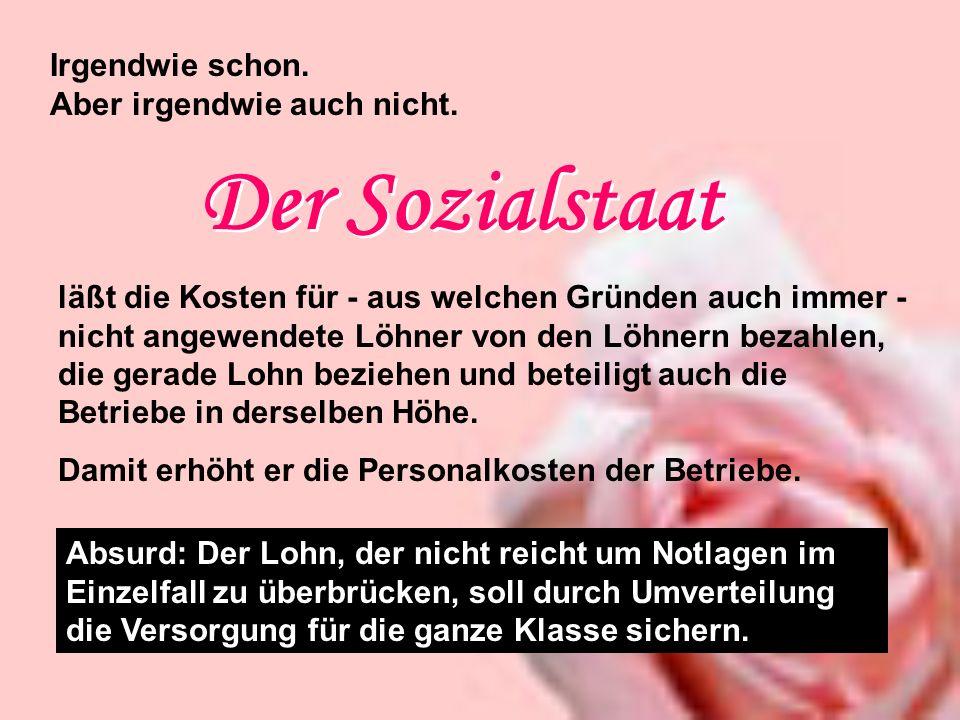 Der Sozialstaat Irgendwie schon. Aber irgendwie auch nicht.