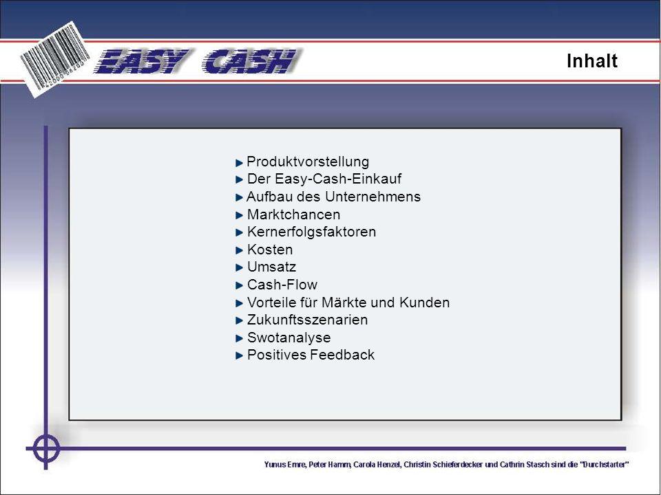 Inhalt Produktvorstellung Der Easy-Cash-Einkauf
