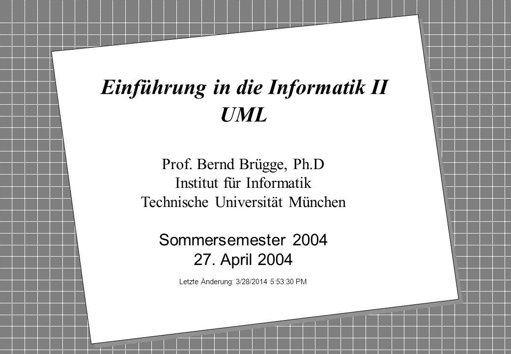Einführung in die Informatik II UML