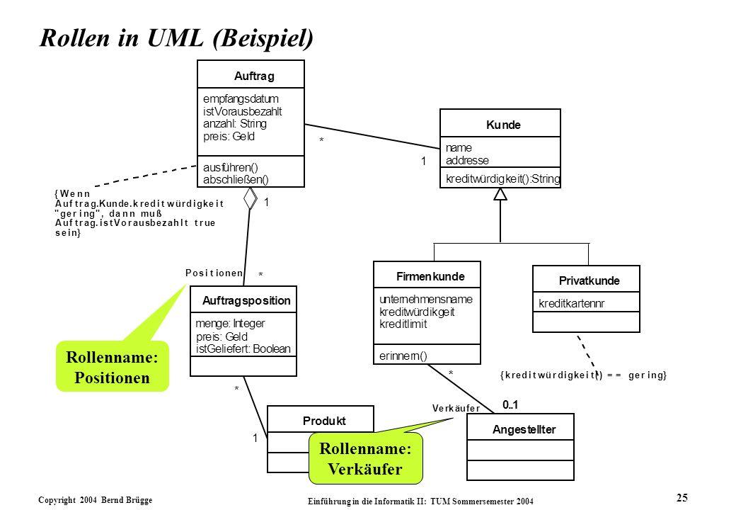 Rollen in UML (Beispiel)