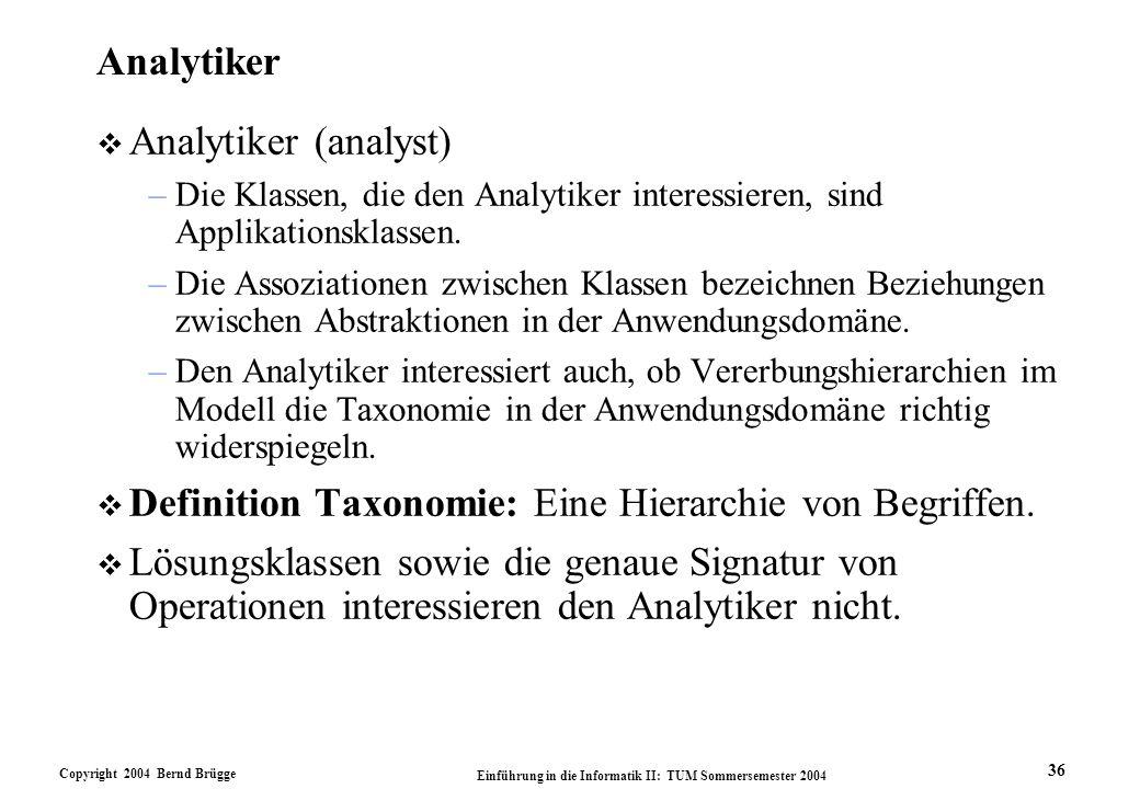 Definition Taxonomie: Eine Hierarchie von Begriffen.