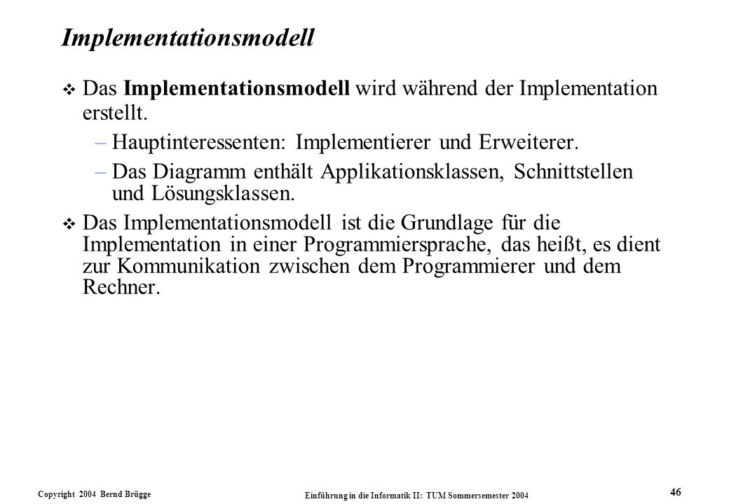 Implementationsmodell