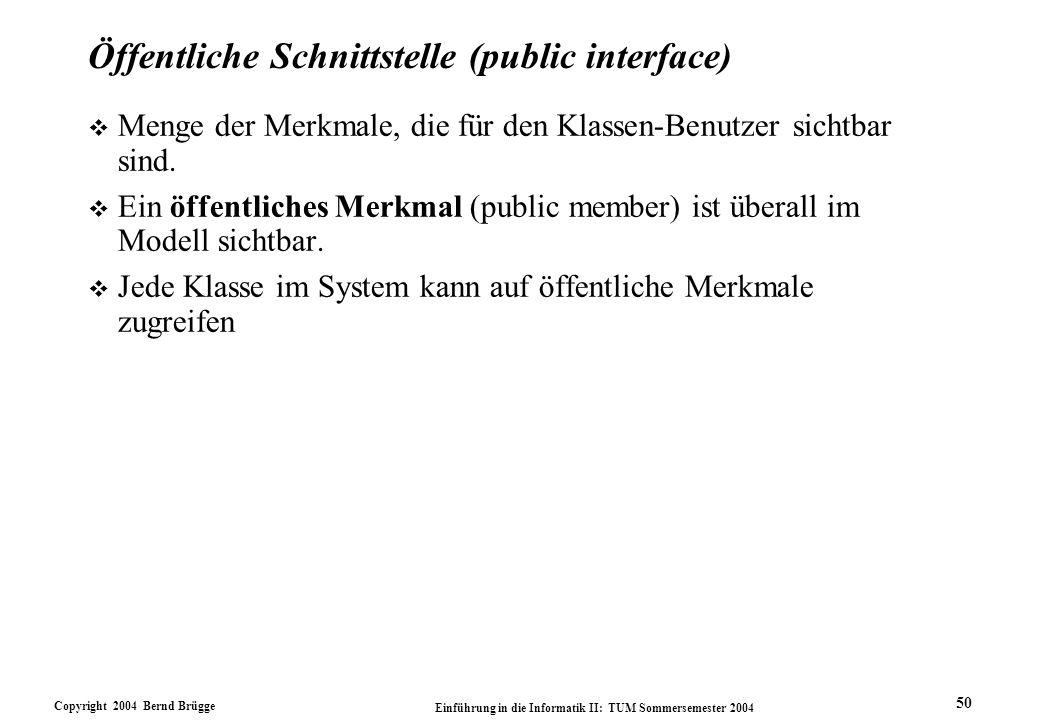 Öffentliche Schnittstelle (public interface)