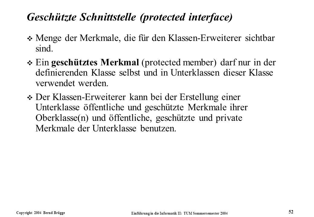 Geschützte Schnittstelle (protected interface)