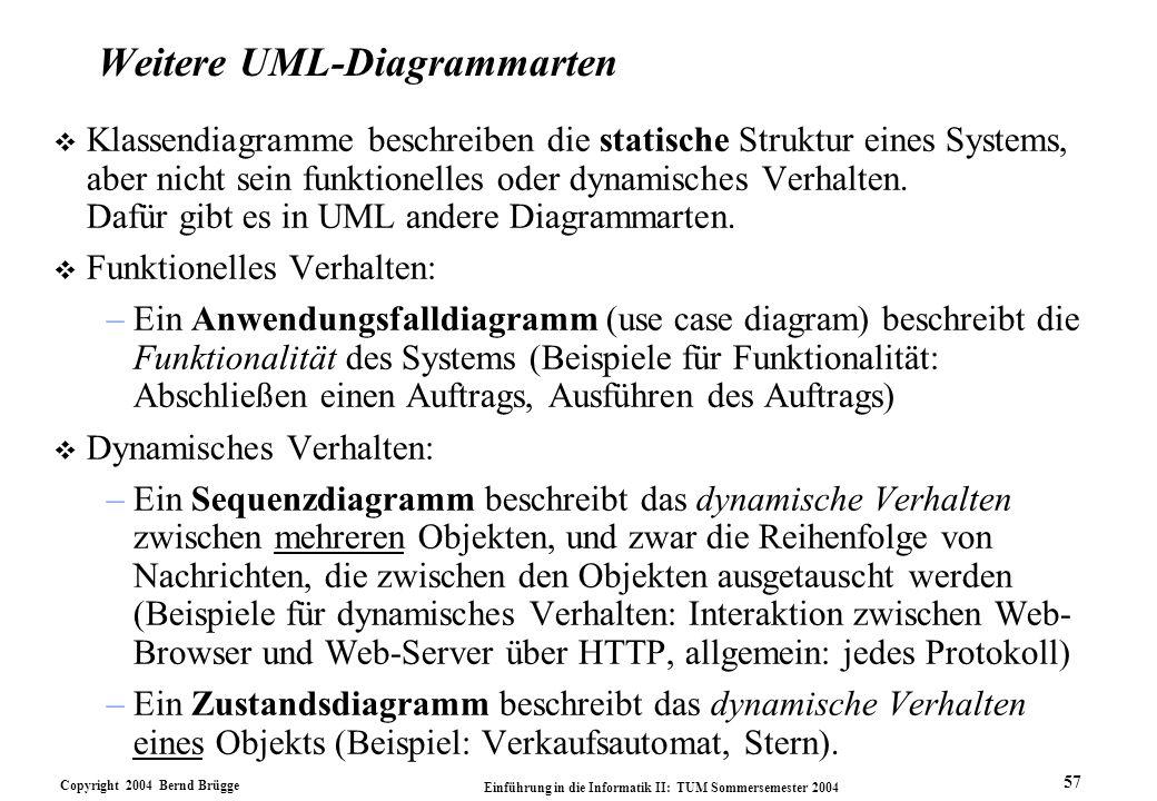Weitere UML-Diagrammarten