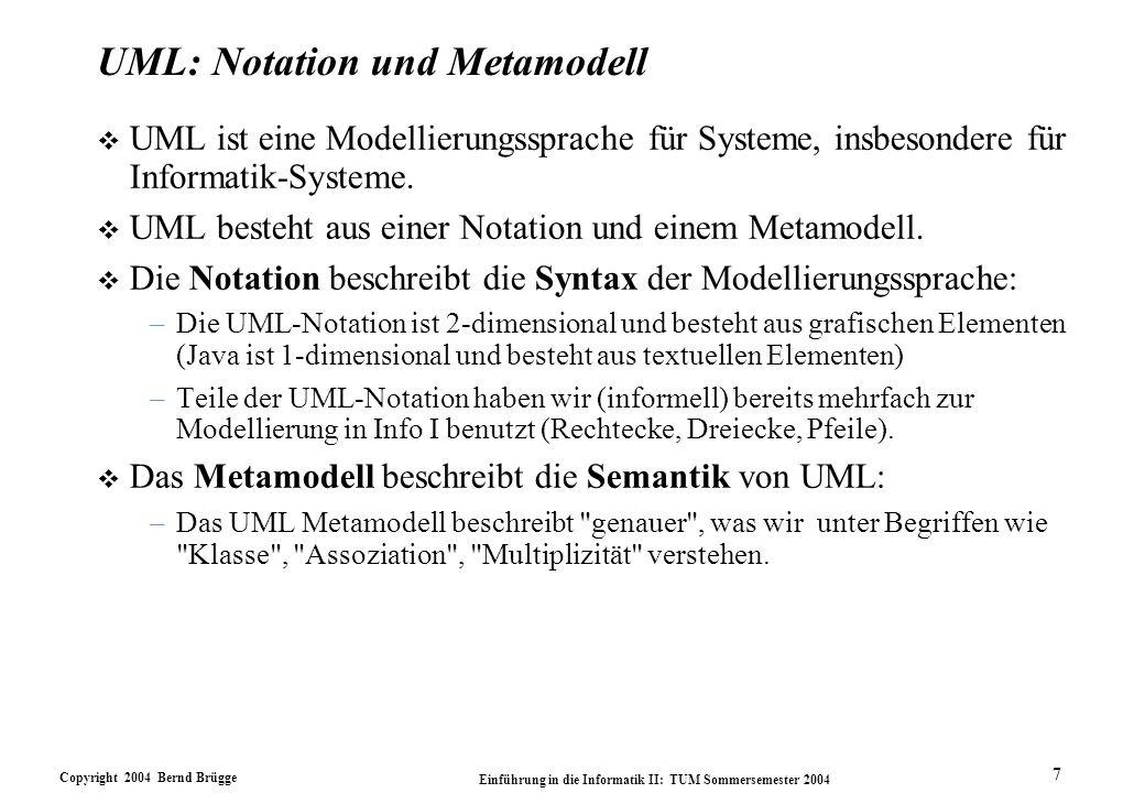 UML: Notation und Metamodell
