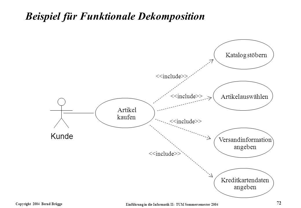 Beispiel für Funktionale Dekomposition