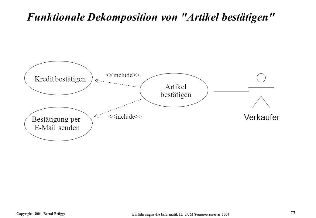 Funktionale Dekomposition von Artikel bestätigen
