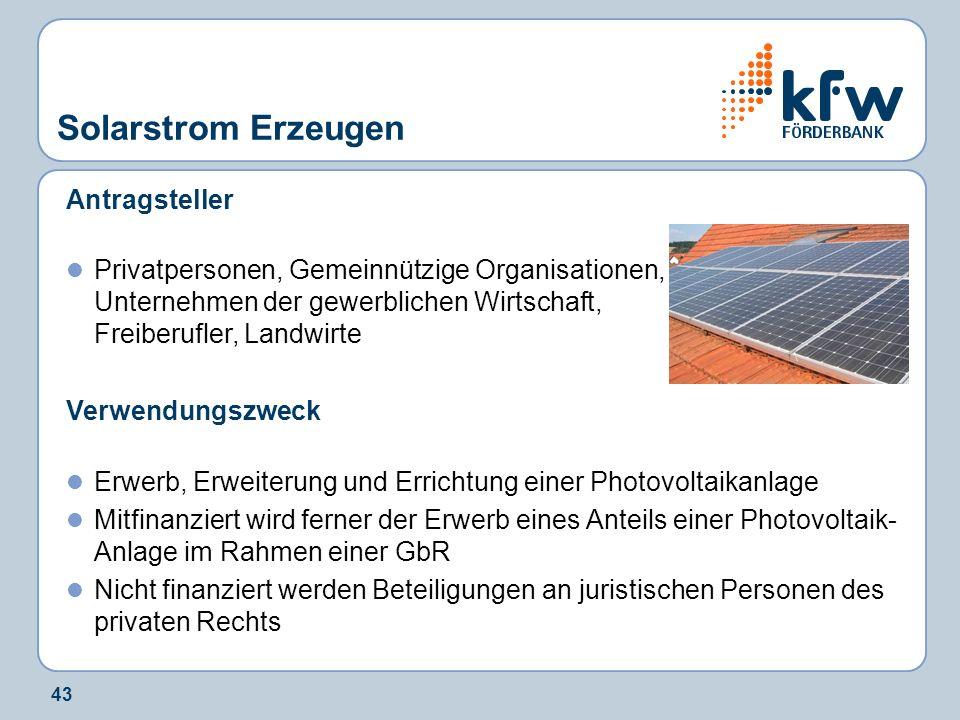 Solarstrom Erzeugen Antragsteller