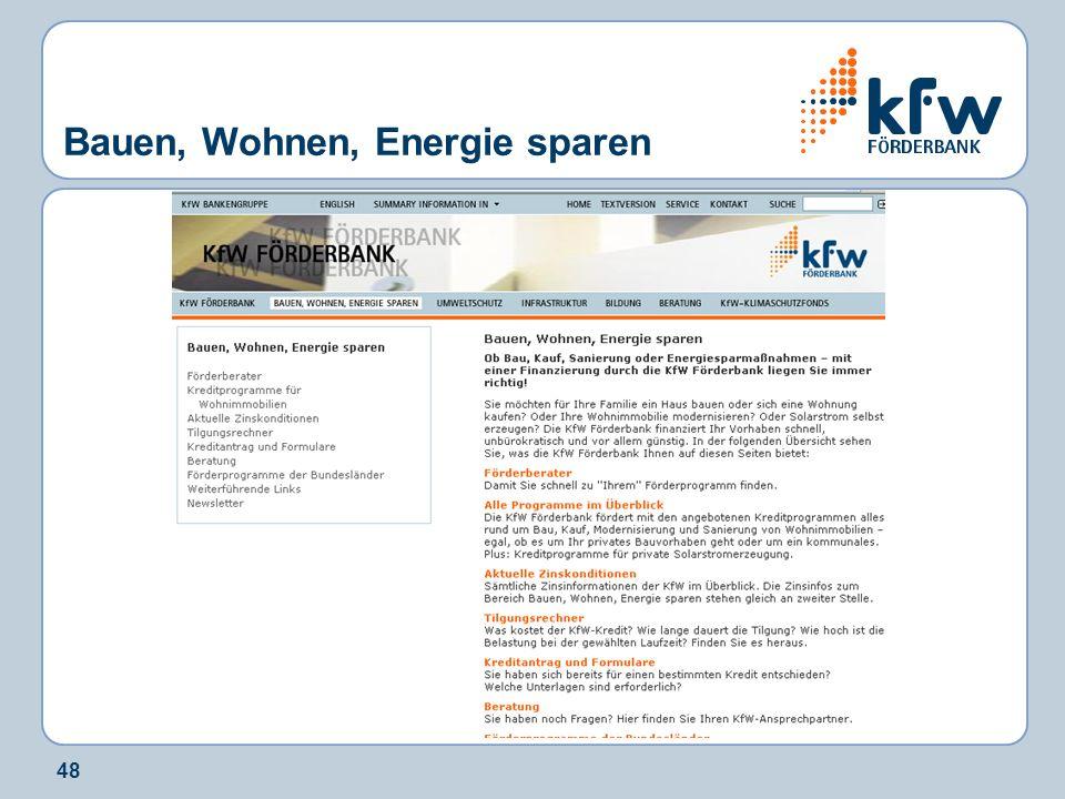 Bauen, Wohnen, Energie sparen
