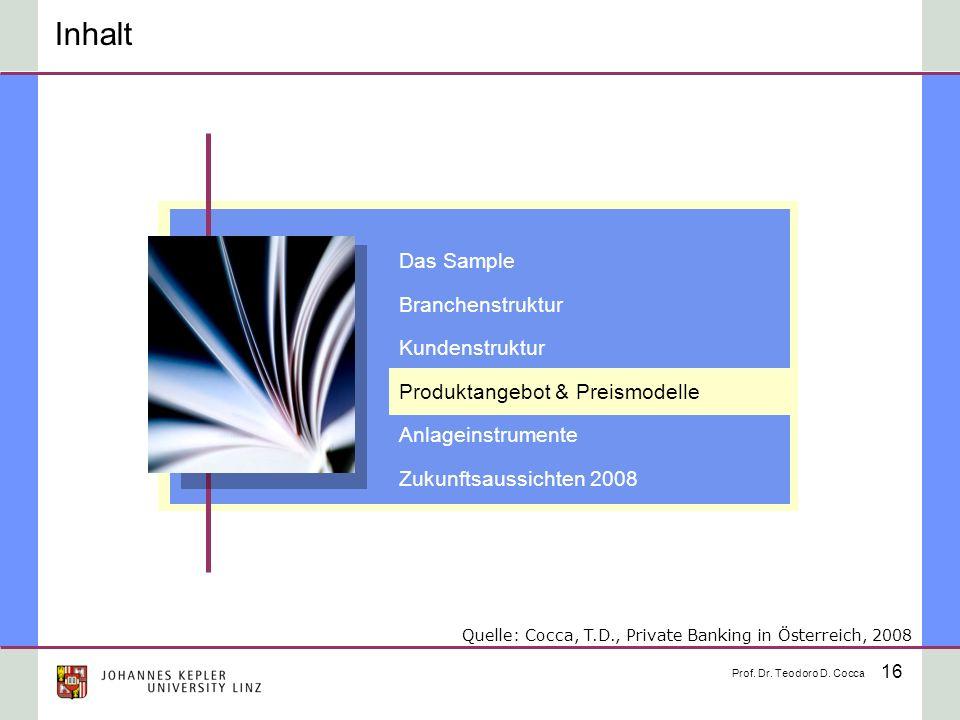 Inhalt Das Sample Branchenstruktur Kundenstruktur