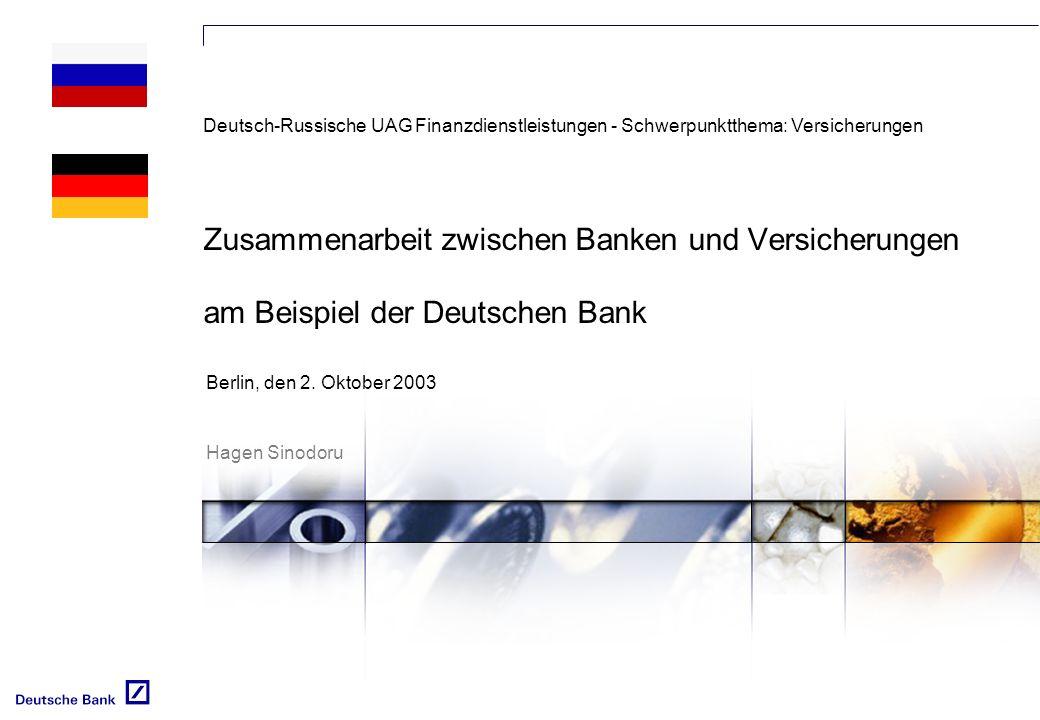 Deutsch-Russische UAG Finanzdienstleistungen - Schwerpunktthema: Versicherungen