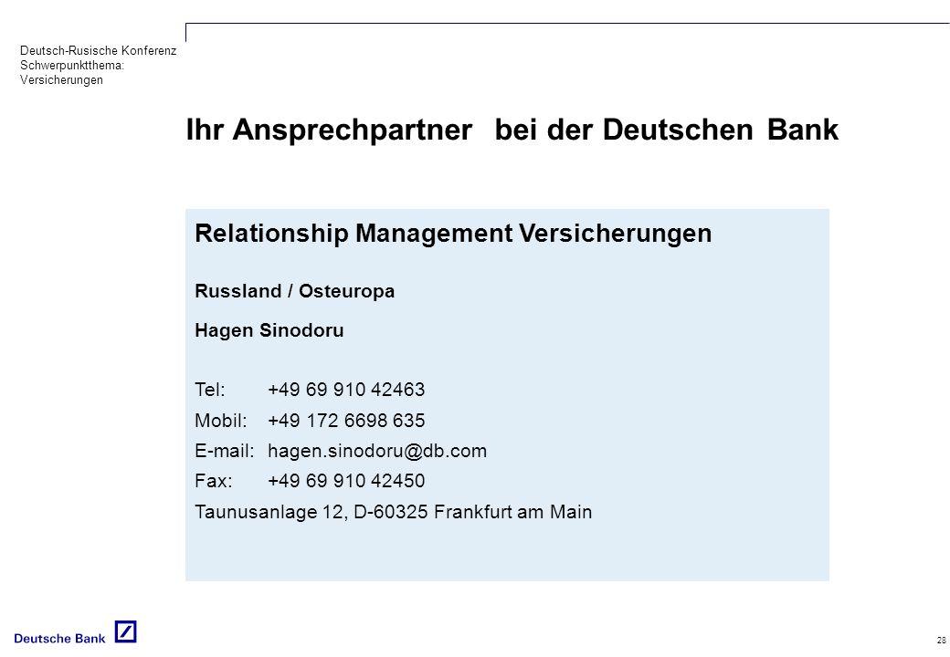 Ihr Ansprechpartner bei der Deutschen Bank