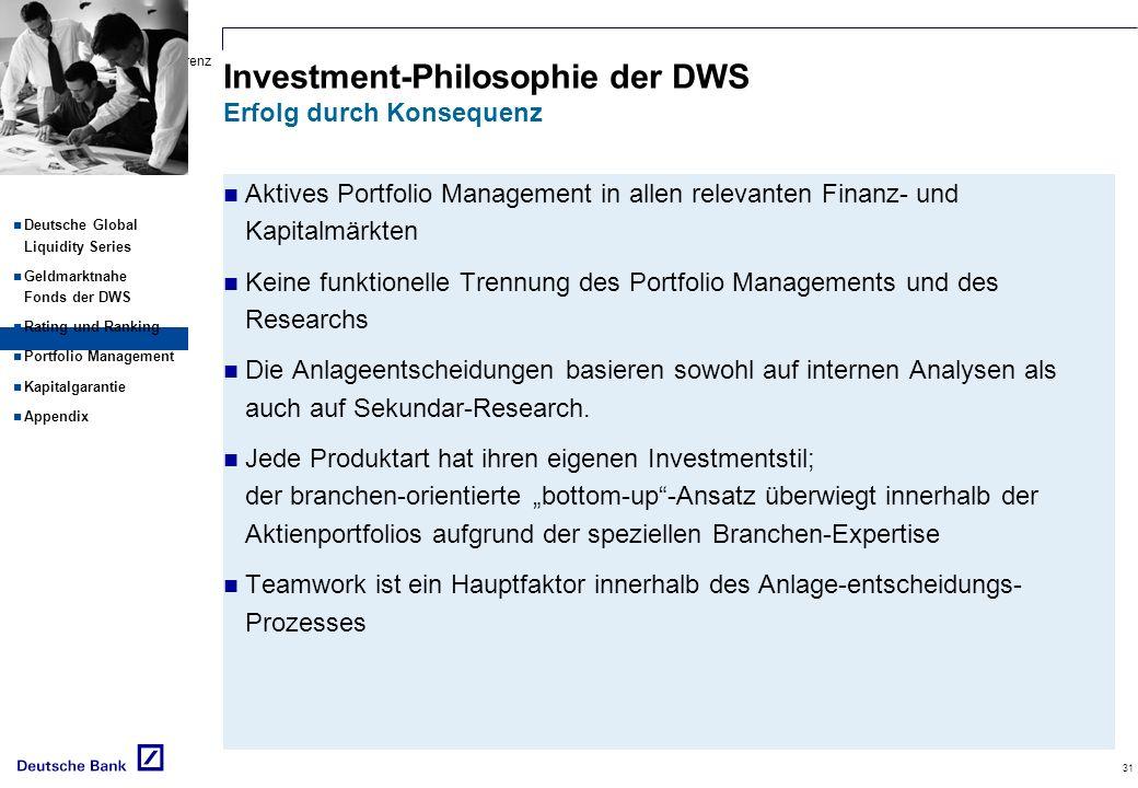 Investment-Philosophie der DWS Erfolg durch Konsequenz