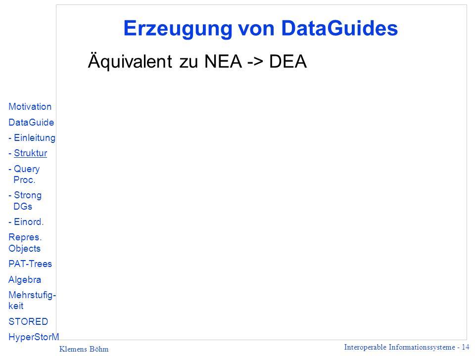 Erzeugung von DataGuides