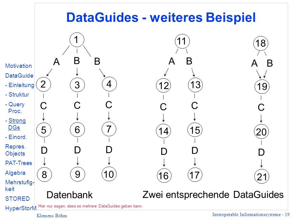 DataGuides - weiteres Beispiel