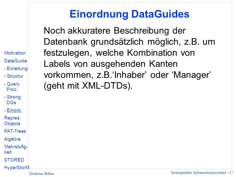Einordnung DataGuides