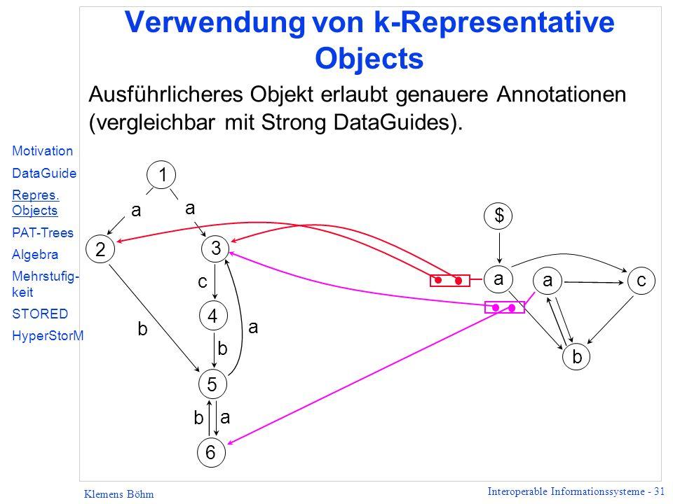 Verwendung von k-Representative Objects