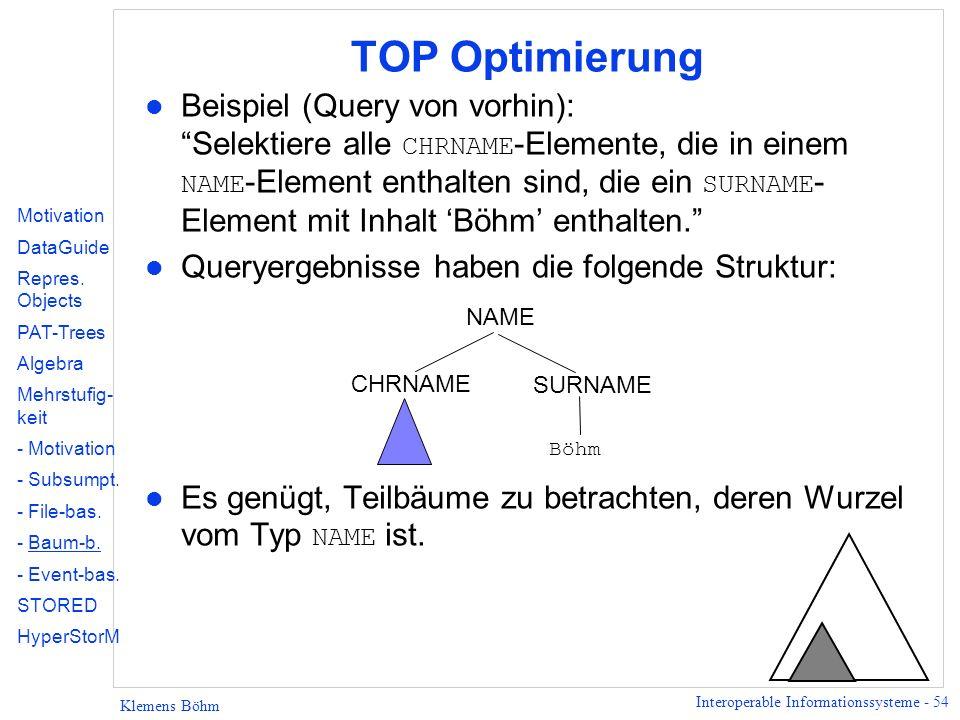 TOP Optimierung