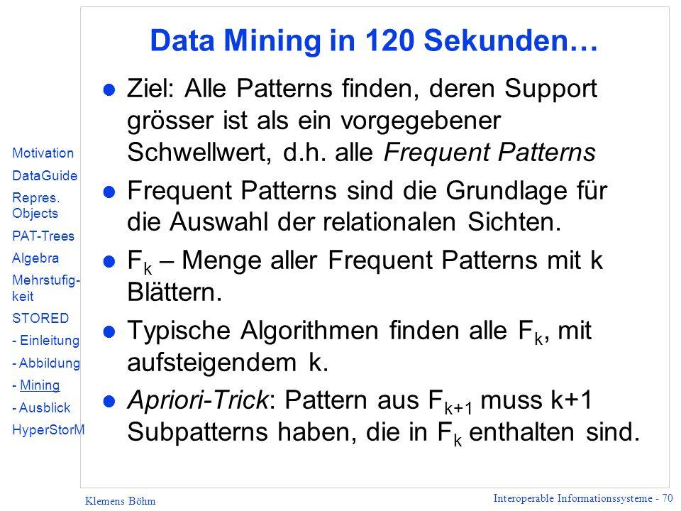 Data Mining in 120 Sekunden…