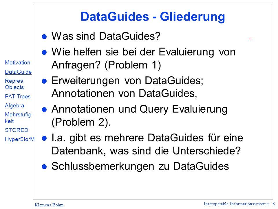 DataGuides - Gliederung