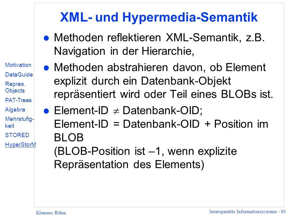 XML- und Hypermedia-Semantik