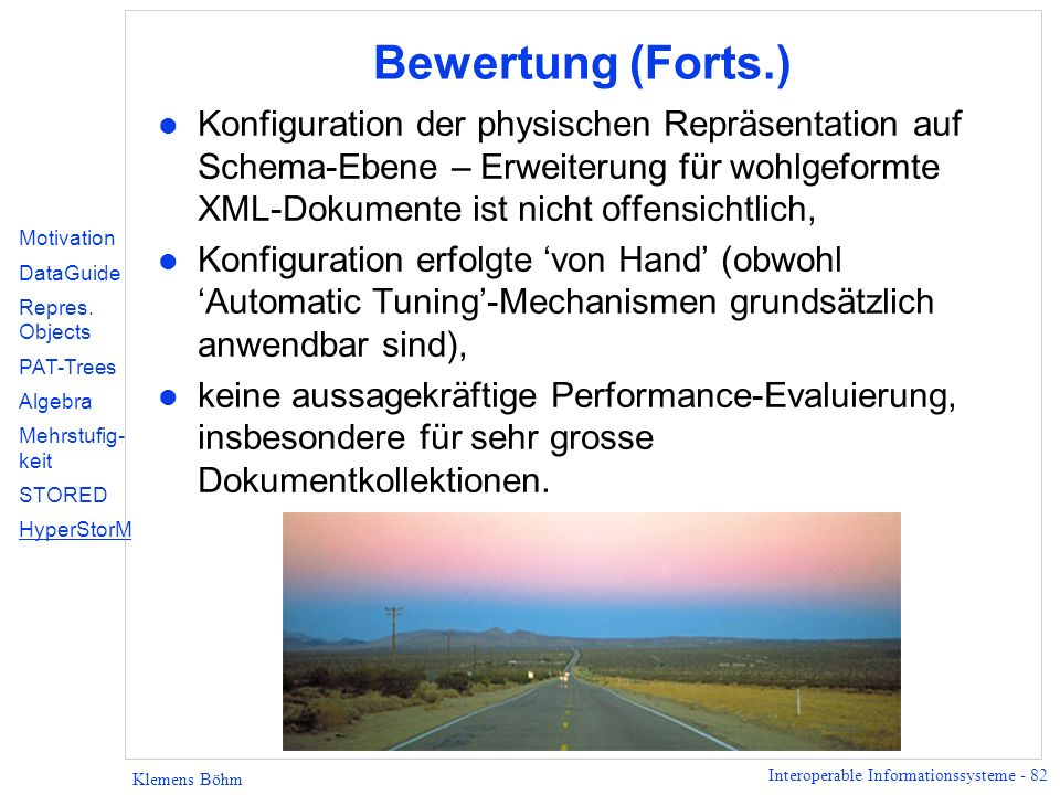 Bewertung (Forts.)