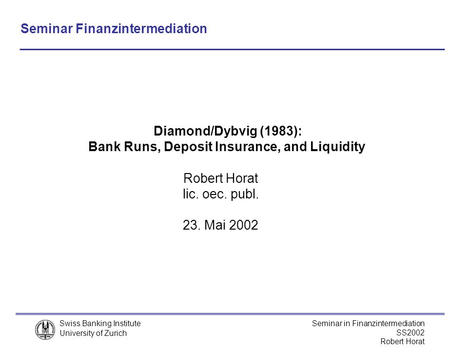 Bank Runs, Deposit Insurance, and Liquidity