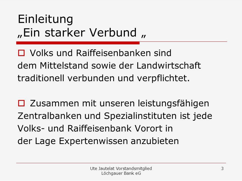 """Einleitung """"Ein starker Verbund """""""