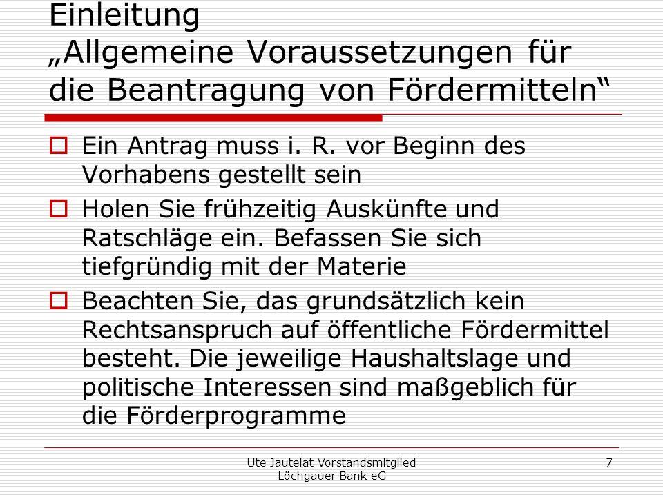 Ute Jautelat Vorstandsmitglied Löchgauer Bank eG