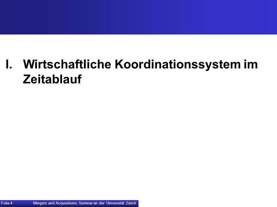 I. Wirtschaftliche Koordinationssystem im Zeitablauf