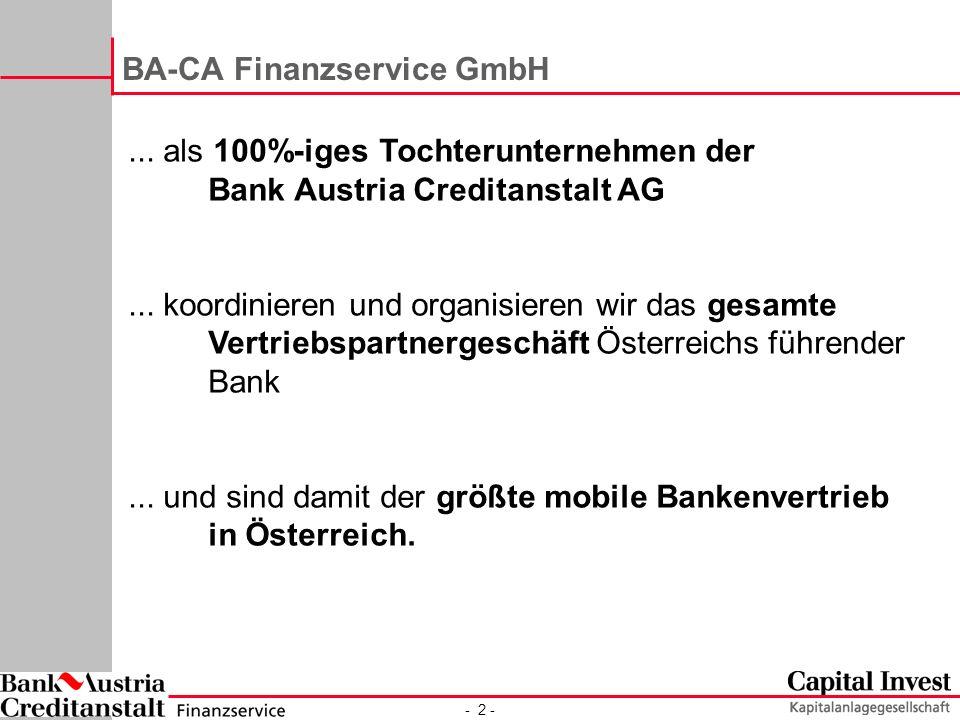 BA-CA Finanzservice GmbH