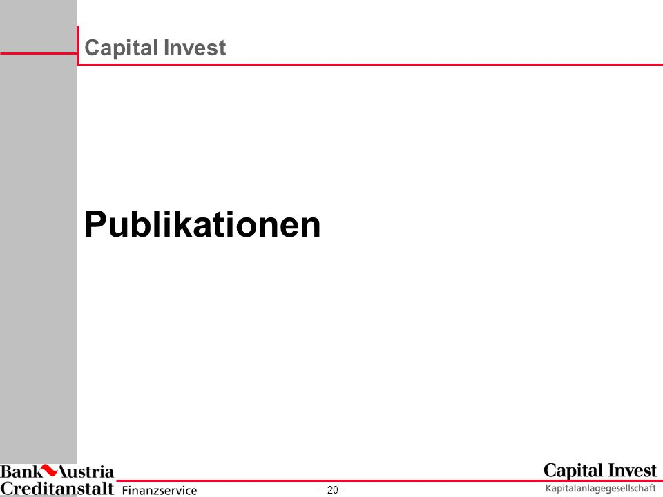 Capital Invest Publikationen